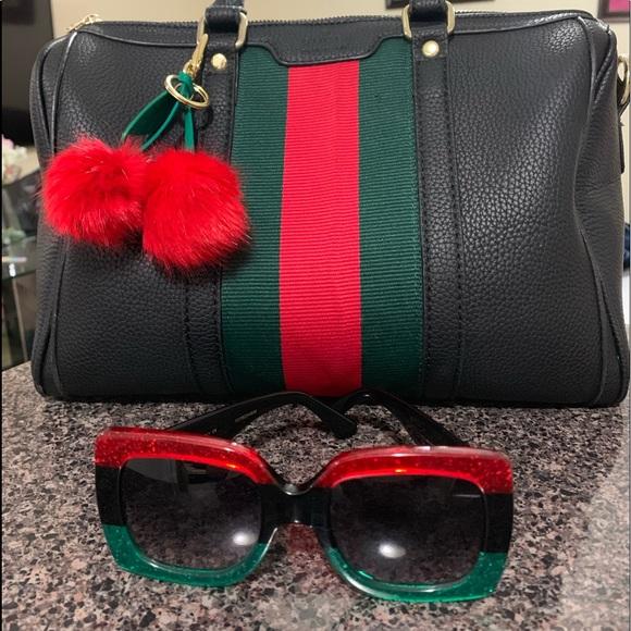 26531c8b9433 Gucci Accessories   Authentic Sunglasses Red Black Green 55mm   Poshmark